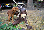 Perhaps the oldest continuous farming society in the world, the Dani inhabit the once remote highlands of Papua, the Indonesian half of the island of New Guinea. Despite their fierce appearance, they are a friendly and welcoming culture. Dogs and pigs are the only domesticated animals in the Baliem Valley. Indonesia.