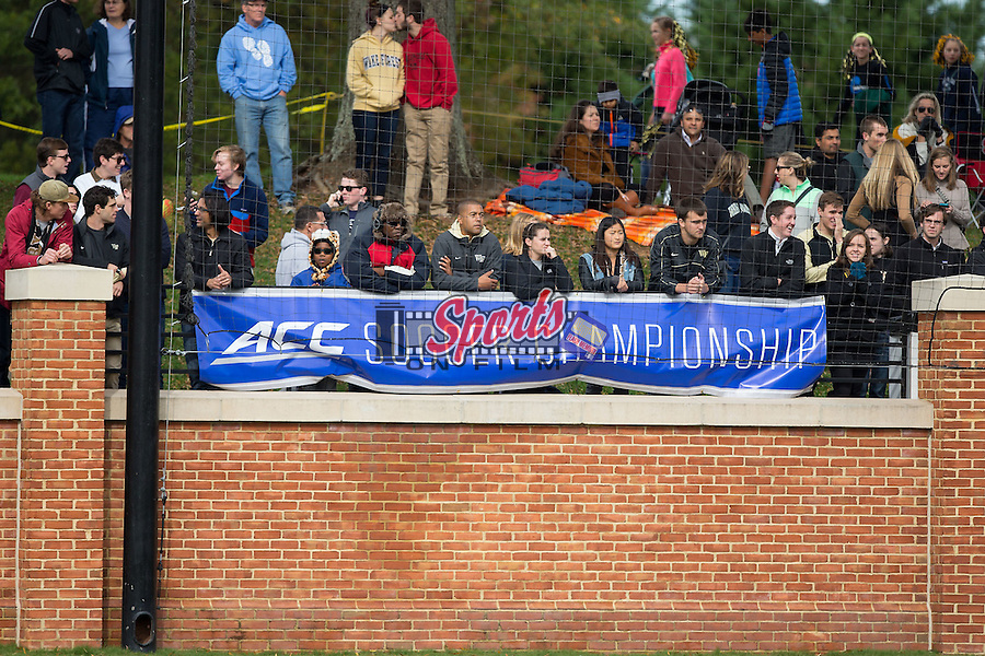 The Wake Forest Demon Deacons played host to the Louisville Cardinals in the quarterfinal round of the 2015 ACC Men's Soccer Championship at Spry Soccer Stadium on November 8, 2015 in Winston-Salem, North Carolina.  The Demon Deacons defeated the Cardinals 2-1 in overtime..  (Brian Westerholt/Sports On Film)