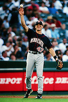 Corey Koskie of the Minnesota Twins during a game against the Anaheim Angels at Angel Stadium circa 1999 in Anaheim, California. (Larry Goren/Four Seam Images)