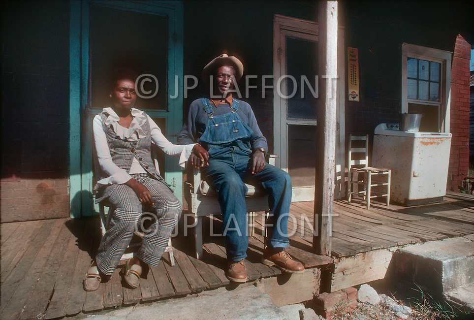 December 1976. Plains, Georgia. Poor black housing in Plains.