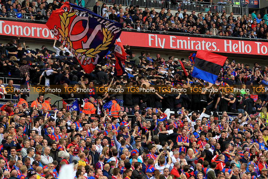 Crystal Palace fanatics doing the poznan during Crystal Palace vs Manchester United, Emirates FA Cup Final Football at Wembley Stadium on 21st May 2016