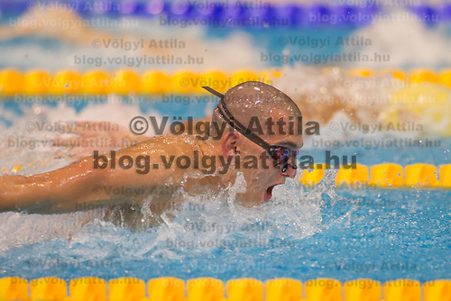 Olympic champion Laszlo Cseh of Hungary competes in the Men's 200m Individual medley semi-final of the 31th European Swimming Championships in Debrecen, Hungary on May 22, 2012. ATTILA VOLGYI