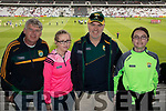 Damien and Sarah Stack (Listowel) with A.J. O'Leary and Siobhan O'Leary (Gneeveguilla), Kerry fans pictured at the Kerry v Cork Munster Final held at Páirc Uí Chaoimh, Cork, on Saturday evening last.​