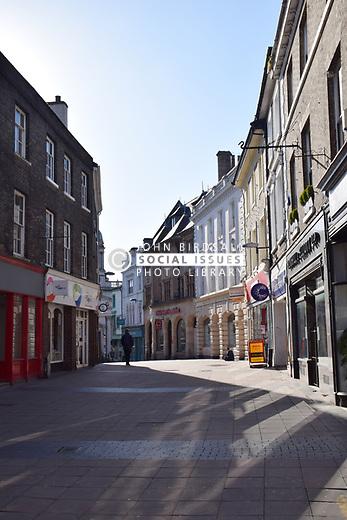 Empty Norwich street due to Coronavirus, Norwich UK March 2020