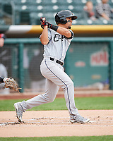 Rafael Ortega (13) of the El Paso Chihuahuas follows through with his swing against the Salt Lake Bees in Pacific Coast League action at Smith's Ballpark on April 30, 2017 in Salt Lake City, Utah.   El Paso defeated Salt Lake 12-3. This was Game 2 of a double-header originally scheduled on April 28, 2017.(Stephen Smith/Four Seam Images)