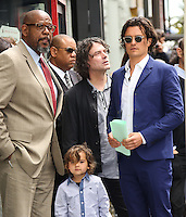 HOLLYWOOD, LOS ANGELES, CA, USA - APRIL 02: Forest Whitaker, David Leveaux, Flynn Christopher Bloom, Orlando Bloom at Orlando Bloom's star ceremony on the Hollywood Walk of Fame (2,521st star) in the category of Motion Pictures held at 6927 Hollywood Boulevard (next to TCL Chinese Theatre and Madame Tussauds Hollywood) on April 2, 2014 in Hollywood, Los Angeles, California, United States. (Photo by Celebrity Monitor)
