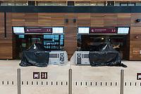 Die Flughafen Berlin Brandenburg GmbH lud am Montag den 25. November 2019 zu einem Pressebesichtigungstermin auf dem im Bau befindlichen Flughafen BER in Schoenefeld.<br /> Im Bild: Zugaenge zum Zoll, der Grenzkontrolle und dem Abflugbereich.<br /> 25.11.2019, Schoenefeld<br /> Copyright: Christian-Ditsch.de<br /> [Inhaltsveraendernde Manipulation des Fotos nur nach ausdruecklicher Genehmigung des Fotografen. Vereinbarungen ueber Abtretung von Persoenlichkeitsrechten/Model Release der abgebildeten Person/Personen liegen nicht vor. NO MODEL RELEASE! Nur fuer Redaktionelle Zwecke. Don't publish without copyright Christian-Ditsch.de, Veroeffentlichung nur mit Fotografennennung, sowie gegen Honorar, MwSt. und Beleg. Konto: I N G - D i B a, IBAN DE58500105175400192269, BIC INGDDEFFXXX, Kontakt: post@christian-ditsch.de<br /> Bei der Bearbeitung der Dateiinformationen darf die Urheberkennzeichnung in den EXIF- und  IPTC-Daten nicht entfernt werden, diese sind in digitalen Medien nach §95c UrhG rechtlich geschuetzt. Der Urhebervermerk wird gemaess §13 UrhG verlangt.]