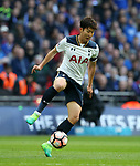 Tottenham's Heung-Min Son in action during the FA Cup Semi Final match at Wembley Stadium, London. Picture date: April 22nd, 2017. Pic credit should read: David Klein/Sportimage
