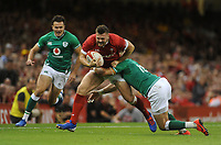Wales Owen Lane is tackled by Ireland's Will Addison<br /> <br /> Photographer Ian Cook/CameraSport<br /> <br /> 2019 Under Armour Summer Series - Wales v Ireland - Saturday 31st August 2019 - Principality Stadium - Cardifff<br /> <br /> World Copyright © 2019 CameraSport. All rights reserved. 43 Linden Ave. Countesthorpe. Leicester. England. LE8 5PG - Tel: +44 (0) 116 277 4147 - admin@camerasport.com - www.camerasport.com