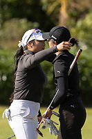 Does Choi celebrates her win over Caryn Khoo in the New Zealand Amateur Golf Championship, Remuera Gold Club, Auckland, New Zealand. Sunday 3rd st November 2019. Photo: Greg Bowker/www.bwmedia.co.nz/NZGolf<br /> COPYRIGHT:© www.bwmedia.co.nz