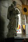 FRANCE - Interior of French church in Normandy.<br /> Beelden van Heiligen sieren historische kerken in Normandie, die jaarlijks vele toeristen trekken. COPYRIGHT TON BORSBOOM