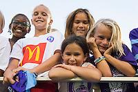 Orlando, FL - Saturday Sept. 24, 2016: Fans after a regular season National Women's Soccer League (NWSL) match between the Orlando Pride and FC Kansas City at Camping World Stadium.
