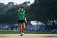 Jaye Marie Green (USA) tips her hat to the roar of the crowd on 18 during round 4 of the 2019 US Women's Open, Charleston Country Club, Charleston, South Carolina,  USA. 6/2/2019.<br /> Picture: Golffile | Ken Murray<br /> <br /> All photo usage must carry mandatory copyright credit (© Golffile | Ken Murray)