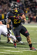 College Park, MD - October 22, 2016: Maryland Terrapins running back Lorenzo Harrison (23) in action during game between Michigan St. and Maryland at  Capital One Field at Maryland Stadium in College Park, MD.  (Photo by Elliott Brown/Media Images International)