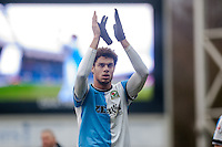 BLACKBURN, ENGLAND - JANUARY 24:  Rudy Gestede applauds fans as he leaves the field  during the FA Cup Fourth Round match between Blackburn Rovers and Swansea City at Ewood park on January 24, 2015 in Blackburn, England.  (Photo by Athena Pictures/Getty Images)