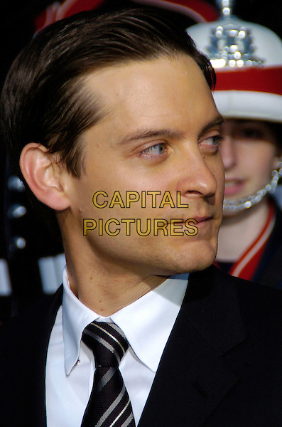 "TOBEY MAGUIRE.""Spider-Man 3"" US premiere during the 6th Annual Tribeca Film Festival held at United Artist Kaufman Astoria Cinema 14, Queens, New York, USA,.30 April 2007..portrait headshot black suit tie toby profile.CAP/ADM/BL.©Bill Lyons/AdMedia/Capital Pictures. *** Local Caption ***"