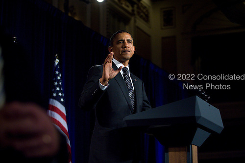 United States President Barack Obama delivers remarks at a DSCC/DCCC event in theRoosevelt Hotel, New York City, New York on Wednesday, September 22, 2010..Credit: Emily Anne Epstein - Pool via CNP