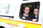 Lauren Delaney and Kasey McGuirk when the Coastguard visited Marymount NS to give a talk about Water Safety..Photo NEWSFILE/Jenny Matthews.(Photo credit should read Jenny Matthews/NEWSFILE)....This Picture has been sent you under the condtions enclosed by:.Newsfile Ltd..The Studio,.Millmount Abbey,.Drogheda,.Co Meath..Ireland..Tel: +353(0)41-9871240.Fax: +353(0)41-9871260.GSM: +353(0)86-2500958.email: pictures@newsfile.ie.www.newsfile.ie.FTP: 193.120.102.198.