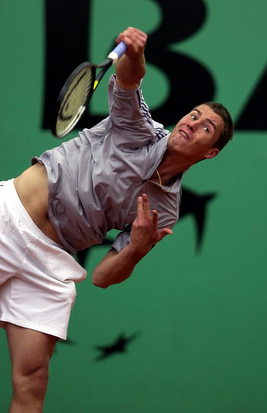 Photo. Richard Lane. .Roland Garros 2002, French Open Tennis. 29/5/2002.Marat Safin of Russia.