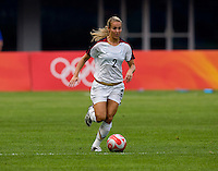 Heather Mitts. The US defeated Japan, 1-0, during the 2008 Beijing Olympics in Qinhuangdao, China.