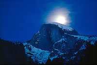 GEOLOGY<br /> Half-Dome w/Moon<br /> Moon if reflected on wall<br /> Yosemite National Park, CA