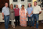 Martina McKenna celebrating her 50th birthday in the Glenside hotel with dad Dan, brothers Brian, Donal and Robert and sister Ann. Photo:Colin Bell/pressphotos.ie