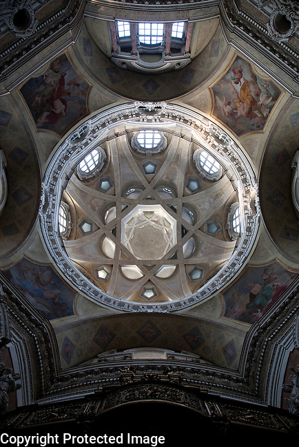 Dome of St Lorenzo Church in Turin - Torino; Italy