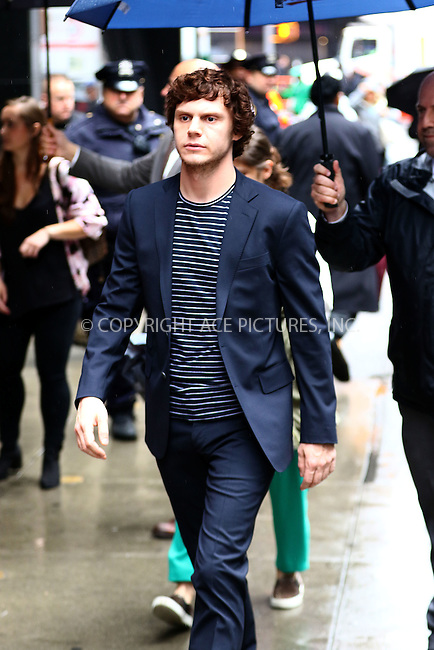 WWW.ACEPIXS.COM<br /> <br /> May 24 2016, New York City<br /> <br /> Actor Evan Peters made an appearance at 'Good Morning America' at the ABC Times Square Studios on May 24, 2017 in New York City<br /> <br /> <br /> By Line: Zelig Shaul/ACE Pictures<br /> <br /> <br /> ACE Pictures, Inc.<br /> tel: 646 769 0430<br /> Email: info@acepixs.com<br /> www.acepixs.com
