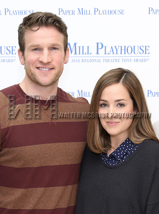 """Claybourne Elder, Hannah Elless and Bryce Pinkham during the meet the cast photo call for the Paper Mill Playhouse production of  """"Benny & Joon"""" at Baza Dance Studios on 3/21/2019 in New York City."""