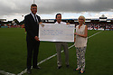 Steveange chairman Phil Wallace with CMA executives<br />  Stevenage v Oldham Athletic - Sky Bet League 1 - Lamex Stadium, Stevenage - 3rd August, 2013<br />  © Kevin Coleman 2013