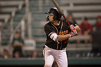 Modesto Nuts third baseman Joe Rizzo (20) at bat during a California League game against the Lake Elsinore Storm at John Thurman Field on May 11, 2018 in Modesto, California. Modesto defeated Lake Elsinore 3-1. (Zachary Lucy/Four Seam Images)