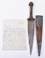 Dagger that belonged to Gordon of Khartoum.