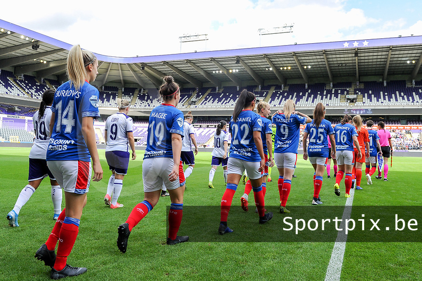 20190813 - ANDERLECHT, BELGIUM : illustration picture during the female soccer game between the Belgian RSCA Ladies – Royal Sporting Club Anderlecht Dames and the Northern Irish Linfield ladies FC , the third and final game for both teams in the Uefa Womens Champions League Qualifying round in group 8 , Tuesday 13 th August 2019 at the Lotto Park Stadium in Anderlecht , Belgium  .  PHOTO SPORTPIX.BE | STIJN AUDOOREN