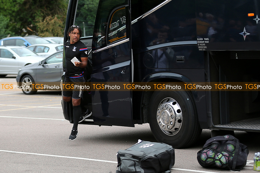 Crystal Palace U23 Coach, Richard Shaw, steps off the coach on his arrival at the ground during Maidstone United  vs Crystal Palace, Friendly Match Football at the Gallagher Stadium on 15th July 2017