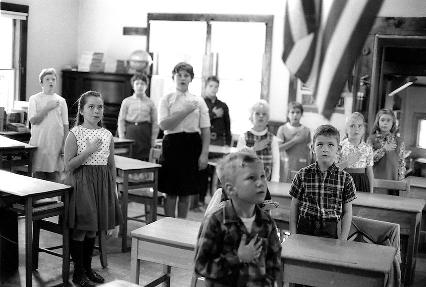 Students in the former one-room school, East Wakefield, New Hampshire..Photograph by Peter E. Randall