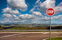 Ronald Reagan Presidential Library and Museum Stop Sign, Simi Valley California