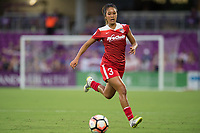 Orlando, FL - Tuesday August 08, 2017: Caprice Dydasco during a regular season National Women's Soccer League (NWSL) match between the Orlando Pride and the Chicago Red Stars at Orlando City Stadium.