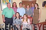 Rose Lucey, Milltown, celebrating her 29th birthday, and Eva Lucey, Milltown, celebrating her 18th birthday in Lord Kenmares restaurant, Killarney on Saturday night, pictured with Mike Lucey, Liam Sheehan, Mike Lucey, Nina Lucey, Eileen Lucey, Kieran Hegarty and Margaret Lucey.