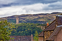 A view from the town of Scotland's William Wallace Monument in Sterling