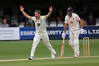 Matt Milnes of Kent appeals for the wicket of Alastair Cook during Essex CCC vs Kent CCC, Specsavers County Championship Division 1 Cricket at The Cloudfm County Ground on 29th May 2019