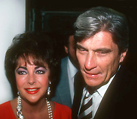 Taylor Warner1034.JPG<br /> Celebrity Archaeology<br /> 1981 FILE PHOTO<br /> New York, NY<br /> Liz Taylor John Warner<br /> Photo by Adam Scull-PHOTOlink.net
