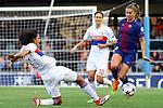 UEFA Women's Champions League 2017/2018.<br /> Quarter Finals.<br /> FC Barcelona vs Olympique Lyonnais: 0-1.<br /> Wendie Renard vs Lieke Martens.