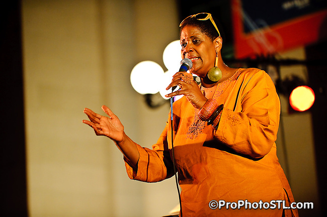 Denise Thimes in her birthday concert during Twilight Tuesday series at Missouri History Museum in St. Louis, MO on Sept 1, 2009.