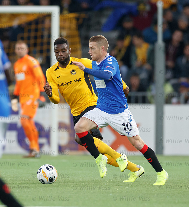 03.10.2019 Young Boys of Bern v Rangers: Steven Davis and Jean Pierre Nsame