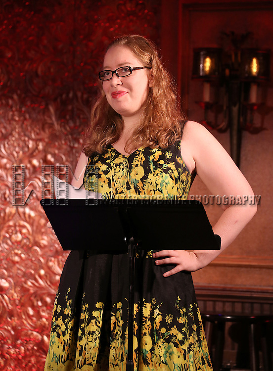 Jennifer Ashley Tepper introduces a press preview of David Zippel's 'Princesses The Musical' at 54 Below on September 23, 2013 in New York City.