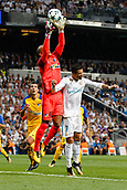 13th September 2017, Santiago Bernabeu, Madrid, Spain; UCL Champions League football, Real Madrid versus Apoel; Cristiano Ronaldo dos Santos Real Madrid is beaten by the hands of Boy Waterman (99) Apoel