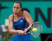 Jelena Jankovic (SRB) (5) against Petra Cetkovska (CZK) in the first round of the Women's Singles. Jankovic beat Cetkovska 6-2 6-3..Tennis - French Open - Day 3 - Tues 26th May 2009 - Roland Garros - Paris - France..Frey Images, Barry House, 20-22 Worple Road, London, SW19 4DH.Tel - +44 20 8947 0100.Cell - +44 7843 383 012