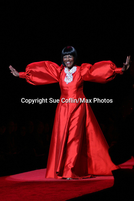 Cicely Tyson wearing b. Michael walks the runway at The Heart Truth's Red Dress Collection 2009 Fashion Show which raises awareness that heart disease is the #1 killer of women was held during Mercedes -Benz Fashion Week New York Fall 09 on February 13, 2009 in Bryant Park, New York City, NY. This event unites with America's top designers to showcase a colleciton of one-of-a-kind Red Dresses. (Photo by Sue Coflin/Max Photos)