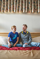 Russian anti-doping whistleblower Vitaly Stepanov (cq) and his wife Yuliya Stepanova (cq) photographed December 21, 2015. Stepanov is currently residing outside Russia after fleeing his home country after revealing and acting as whistle blowers in a Russian doping and drug enhancing system throughout the countries athletics program. His wife Yuliya, a middle distance runner, is currently under a ban from running after getting caught using performance enhancing drugs. Vitaly is a former Russian Anti-Doping Agency employee.<br /> <br /> Photo by Matt Nager