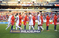 Philadelphia, PA - Tuesday June 14, 2016: Chile, Panama  prior to a Copa America Centenario Group D match between Chile (CHI) and Panama (PAN) at Lincoln Financial Field.